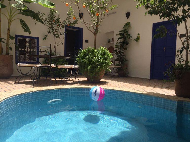 Marokko Hautnah Riad Marrakesch Pool